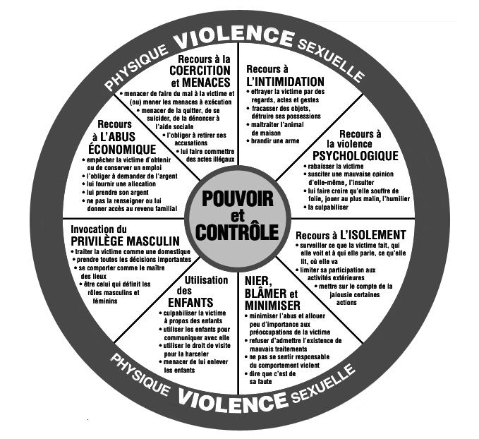 La roue du pouvoir et du contrôle